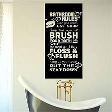 dekoration badezimmer regeln bürste kunst spruch