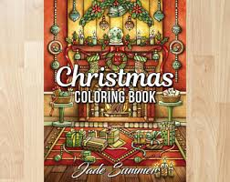 Christmas Coloring Book By Jade Summer Books Pages Adult