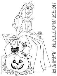 Princess Aurora Halloween Colouring Sheet
