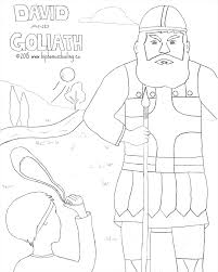 Adult David And Goliath Coloring Pages Veggie Tales Within Jesus Storybook Bible