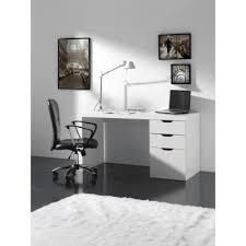 bureau pas cher blanc bureau blanc avec tiroirs ben prix promo atylia 259 00 ttc