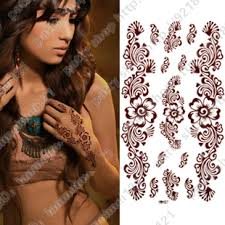 Tattoo Stickers Waterproof Women Chocolate Temporary Indian Hand Fake New Chest Sleeve Leg