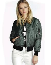 short jacket solid stand collar elastic cuff waist bomber jacket