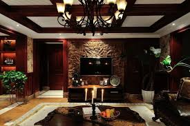 living room living room decorating with antique brick wall and