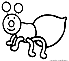 Free Printable Simple Bug Coloring Page For Kids To Print And Color