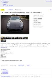 100 Sf Craigslist Cars And Trucks At 21000 Will This 2007 Porsche Cayman Have You Saying See You