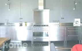 meuble cuisine inox meuble cuisine en inox trendy meuble bas central en inox with