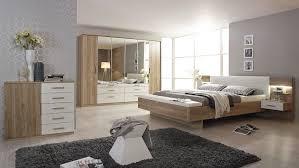 schlafzimmer set mosbach in sanremo eiche hell und weiß led