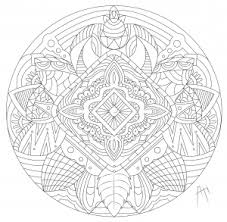 Leaves Flowers And Feathers In A Beautiful Mandala