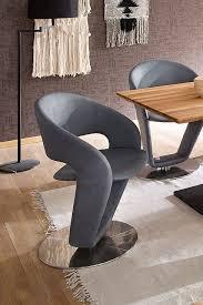 mca firona tellerstuhl drehbar 2er set grau blau stühle