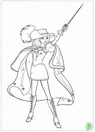 Three Musketeers Barbie Colouring Pages Page 3