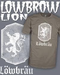 t lowenbrau lion juxtapoz art vintage beer shirt