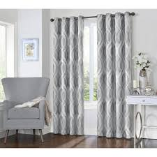 silver curtains drapes window treatments the home depot