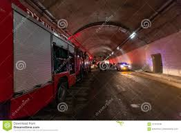 100 Fire Lights For Trucks Entering A Large Tunnel With Red Rescue