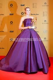 heidi klum amazing purple satin strapless evening ball gown bambi