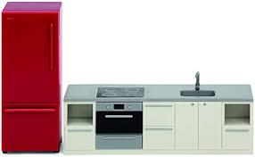 lundby 60 306600 küche puppenhaus rot weiss möbel 2