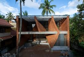 104 Home Architecture Wallmakers Uses Brick To Create Curved Walls At Pirouette House