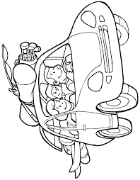 Family Vacation Car Trip Coloring Page