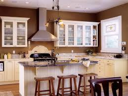 Kitchen Paint Color Ideas With White Cabinets And Wall Brown
