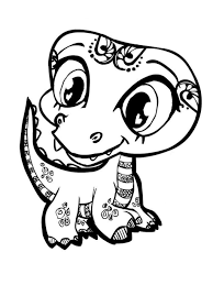 Kids Coloring Pages Cute Animals Baby Within Animal
