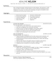 Store Manager Resume Examples Of Assistant Combined With Sample Retail Resumes