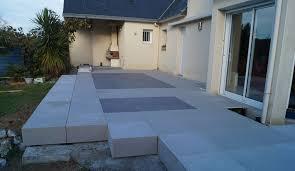 pose carrelage sur dalle beton exterieur carrelage terrasse