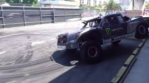 Watch BJ Baldwin Bring His 800-HP Trophy Truck To Hoonigan's Donut ...