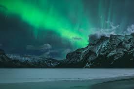 Northern Lights over Mt Girouard Northern Lights over Mt …