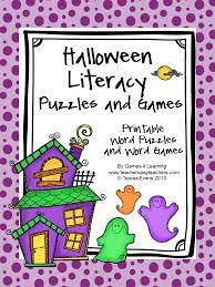 Halloween Brain Teasers by Fun Games 4 Learning Halloween Literacy Freebies