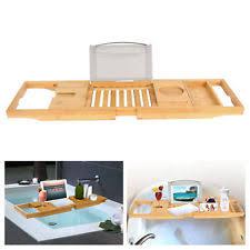 Bamboo Bathtub Caddy Bed Bath Beyond by Stainless Steel Bath Bathtub Caddies Storage Equipment Ebay
