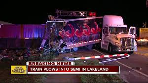 Train Crashes Into Tractor-trailer Stalled On Tracks In Lakeland ... 2015 Dodge Ram 2500 With Leer 122 Topperking Are Truck Caps Rvs For Sale 2060 Best Cap Brands Tacoma World 2018 Chevrolet Silverado 3500hd Heavyduty Canada Lakeland Haulage 9800i Eagle X Trucking Fully Loaded 2011 1500 Accsories Todds Mortown Converting My Hbilly To A Box Truckmount Forums 1 Amazoncom Super Seal 23 Ft 12 Width X Height Florida Train Strikes Semitruck Full Of Frozen Meat Neighbors