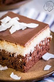 kokos schokoladen kuchen vom blech