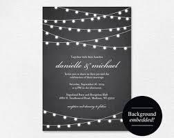 Rustic Wedding Invitation Chalkboard Printable String Lights DIY