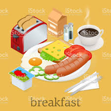 materiel de cuisine en anglais icônes de lisométriques le petit déjeuner et cuisine matériel