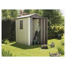 Keter Manor 4x6 Storage Shed by Plastic Sheds Tesco