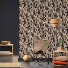 a s création vliestapete scandinavian 2 tapete geometrisch grafisch schwarz metallic braun