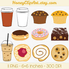 Cafe Clip Art Digital Food Clipart Bakery Clip Art by HoneyClipArt