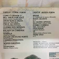 Lp A Música Na Febem Banda Da Febem 1982