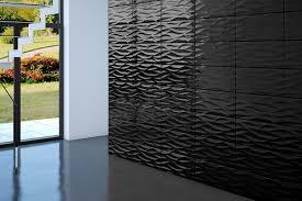 3d Glass Wall Tile Black NEW RINSVE 600x300x8