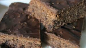 schoko mandel schnitten brownie kuchen