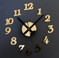 Modern Design DIY Wall Clockbig Size Briefsimple And Elegant Arabic Numbers