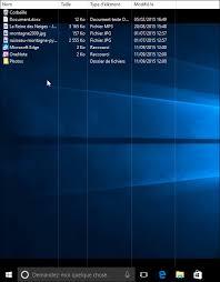 mettre icone sur le bureau windows 10 afficher le bureau comme un dossier liste et détails