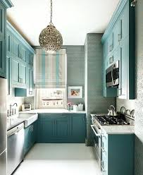 shabby chic kitchen cabinet blue small kitchen decoration using
