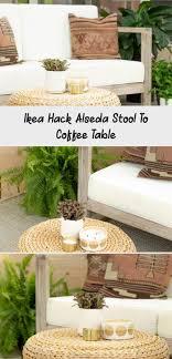ikea hack alseda hocker zum couchtisch kaffee coffee
