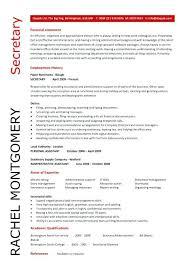 Secretary Sample Resume Reception