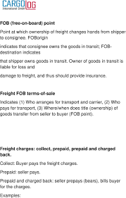 100 Trucking Terminology LOGISTIC GLOSSARY An Individual Or Firm That Sends Freight A