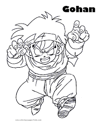 Gohan Dragon Ball Z Color Page Cartoon Characters Coloring Pages Plate