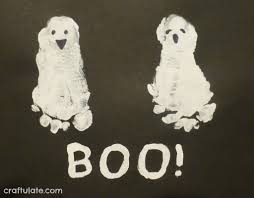 Poems About Halloween For Adults by Baby U0027s First Halloween Footprint Halloween Fun Pinterest