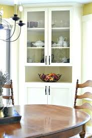 Corner Dining Room Hutch White Built Furniture Glamorous Cabinet