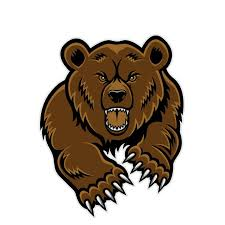 Angry Grizzly Bear Clipart